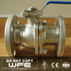 ANSI API CF8 Flange Floating 1 piece stainless steel floating ball valve with strainer