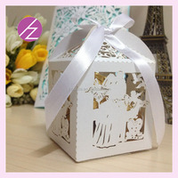 laser cut wedding paper favors , wedding cake toppers with good pearl paper free logo assorted colours TH-237