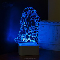 3D Visual Led Night Lights for Kids Robot Touch USB Table Lampara as Besides Lampe Baby Sleeping Night light