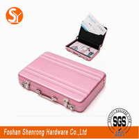 access color suitcase card case with keychain mini trunk card holder