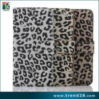 wallet leather pu material leopard print case for iphone 6s