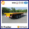 chengda 3-axle flatbed semi trailers used container chassis sale