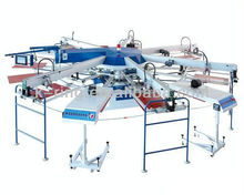 Small automatic t shirts rotary silk screen printing machine