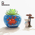 ROOGO Artificial Modern Resin Intdoor Cancer Small Flower Planter
