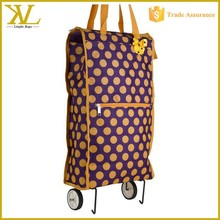 Rolling Shopping Tote Bag, Cheap Waterproof Foldable Trolley Shopping Bag