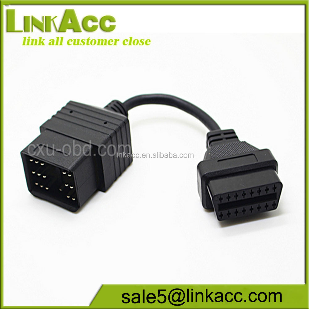 LKCL28 Car 17 Pin to OBD OBD2 16PIN Diagnostic cable
