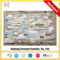 Black cheap stone veneer exterior culture slate wall tile/slate walling tile