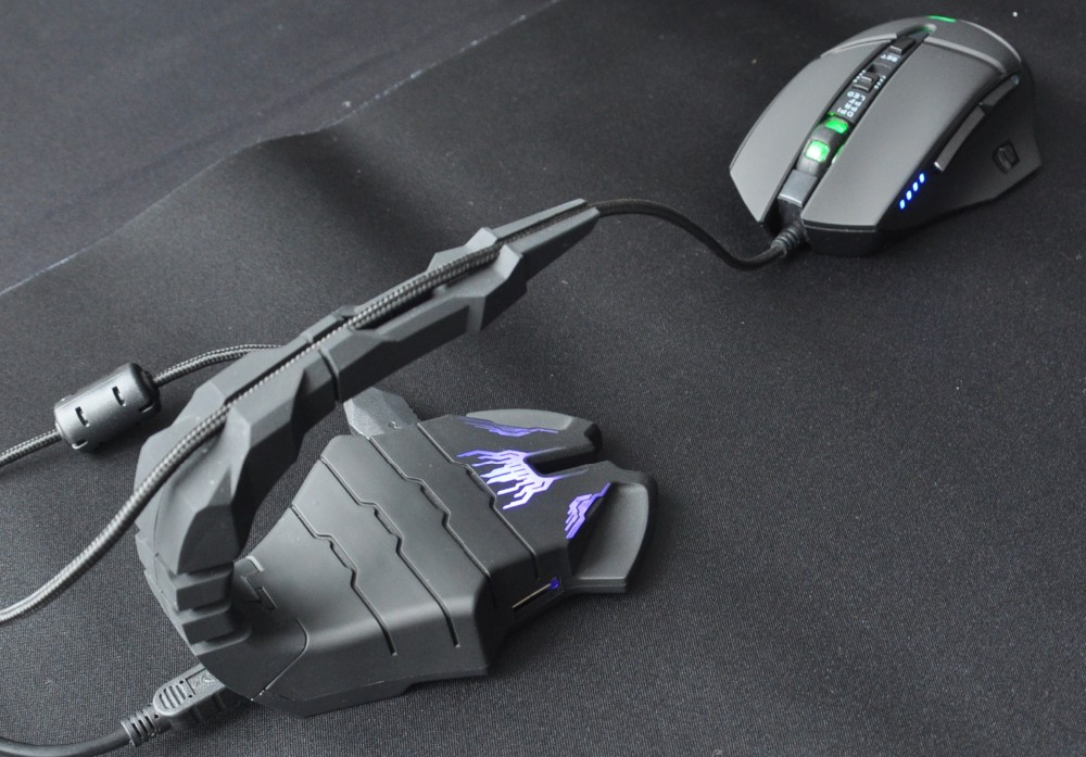 Gaming mouse bungee with 2 ports USB HUB