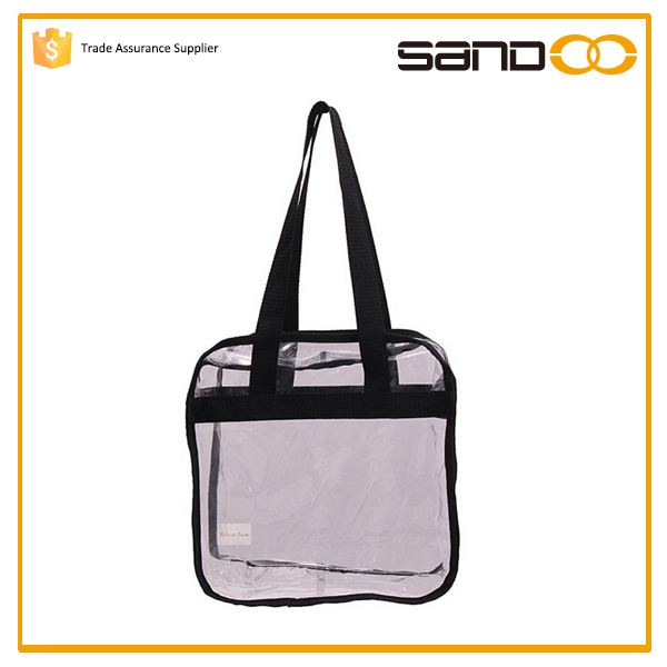 New design factory Clear Tote Bag, pvc handle bag,