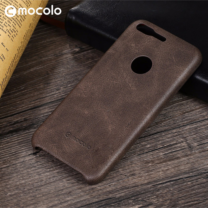 Mocolo OEM Logo Black Leather Case For Google Pixel XL Mobile Phone PU Case