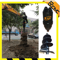 tree planting digging earth drilling machines fence post hole digger