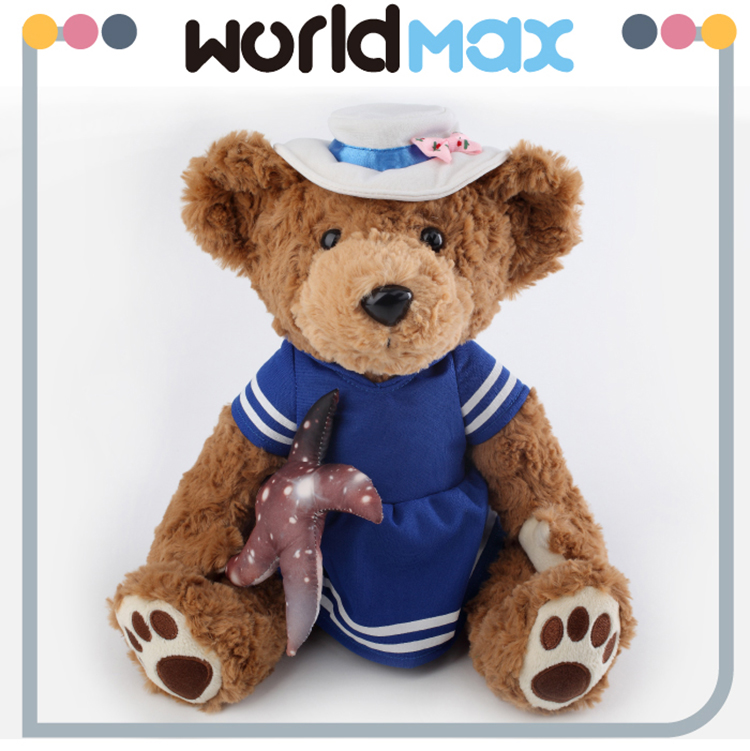 Mini Cutie Children Toy Beach Girl Teddy Bear