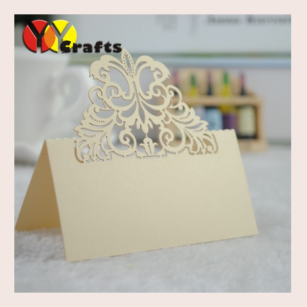 hot sale customizable laser cut wedding table place cards,seat card