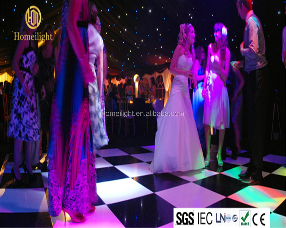 Professional <strong>Manufacturer</strong> 2*4ft Buy disco panels Acrylic White & Black Starlit led dance floor for wedding