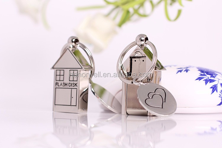 House Metal usb flash 8GB wholesale customized logo for gift or use