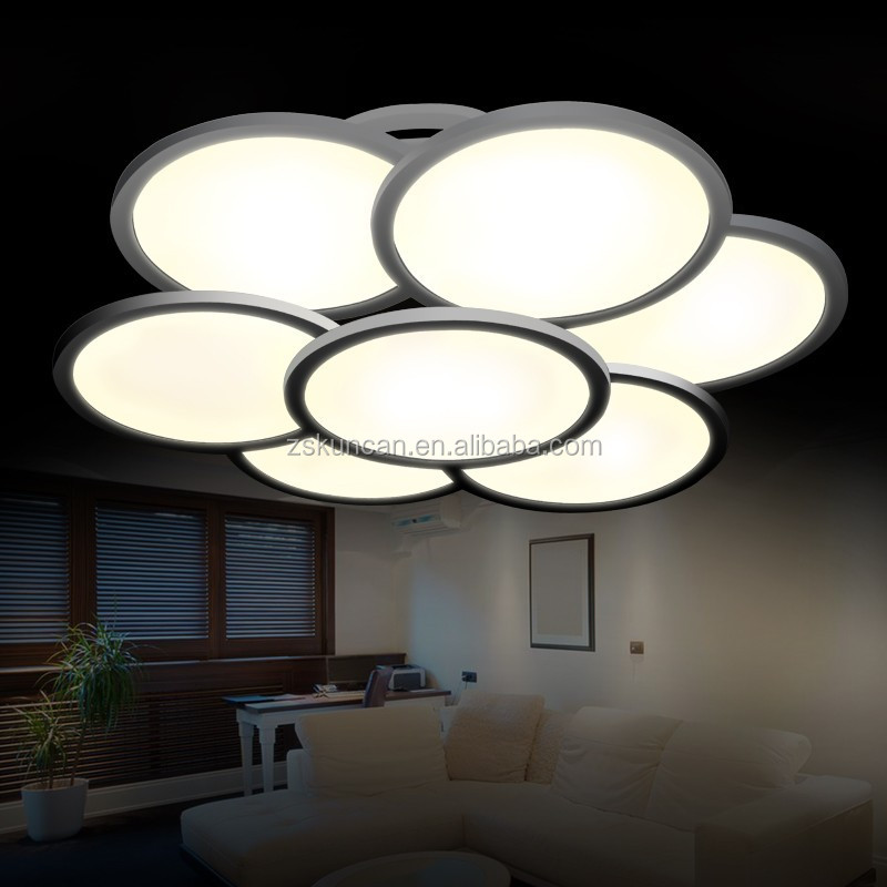 Round flower design led ceiling lights high bright for interior decorations