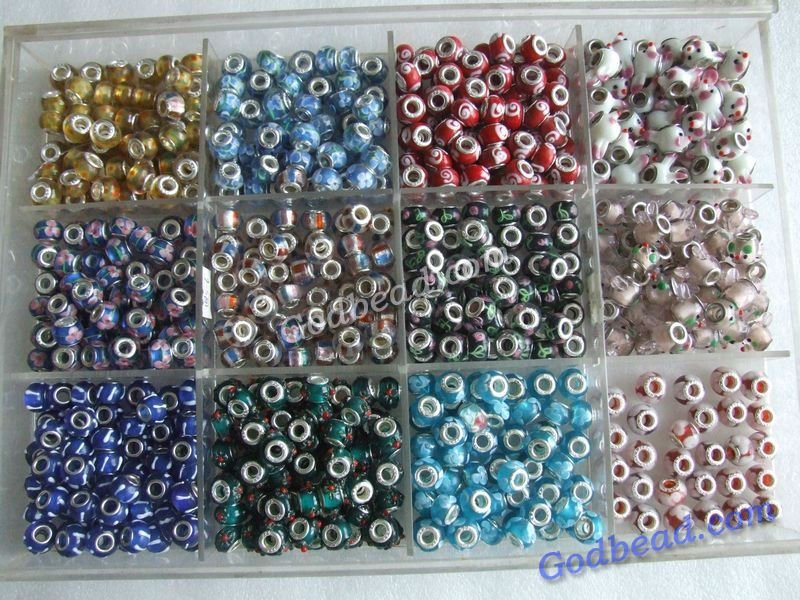 456 loely glass bead wholesale handmade murano lampwork glass european beads fit for charm bracelets
