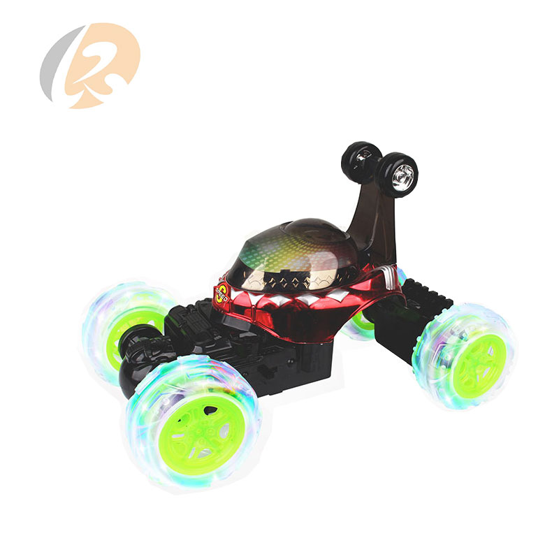 music 3D light 360 rotation remote control stunt rolling car for kids