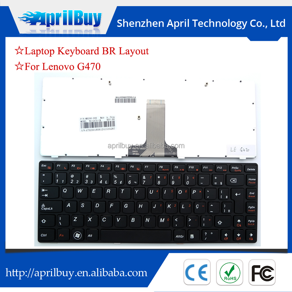 replacement laptop keyboard for lenovo g470 g475 b470 Teclado BR
