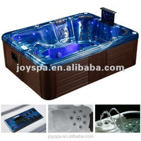 Luxury massage large outdoor spa pool with pop-up speaker outdoor hot tub