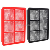 Silicone Large Ice Cube Trays Set for Whiskey and Easy to Take Ice Out Ice Cube Flexible Rubber Molds