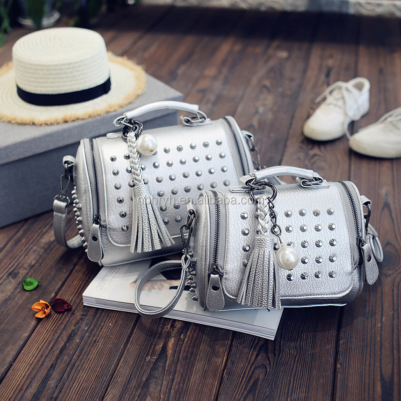 FO-20 Fashion new style tassel rivet small bags for girls
