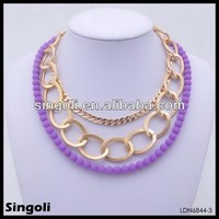 Neon Beads Beaded Jewelry Gold Chain Wholesale Costume Jewellery