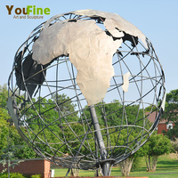 New Design Outdoor Modern Large Metal Art Stainless Steel Goble Sculpture
