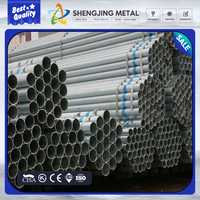 114*4.5 BS1387 hot dipped galvanized steel pipes threaded on both ends used for liquid