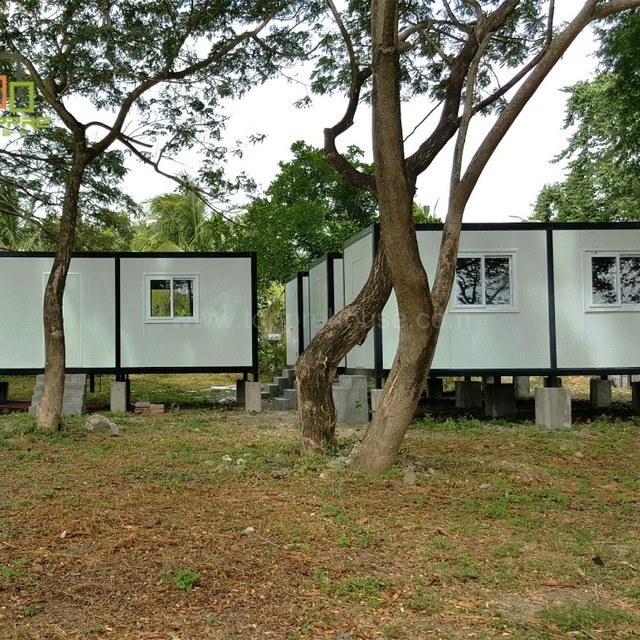 Flat roof accommodation house designs for luxury shipping prefab container homes for sale in usa