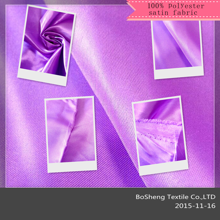Manufacturer supply high quality satin fabric,Can be processing all kinds of technology