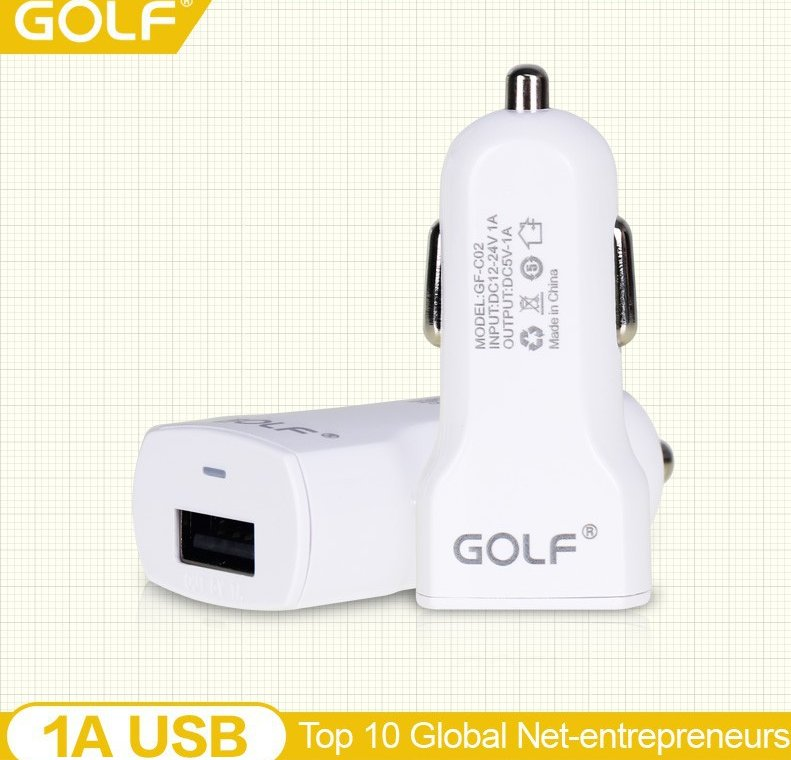GOLF Hot Selling New Product MINI USB Car Charger 5V 1000MA For iphone 6 In Alibaba China