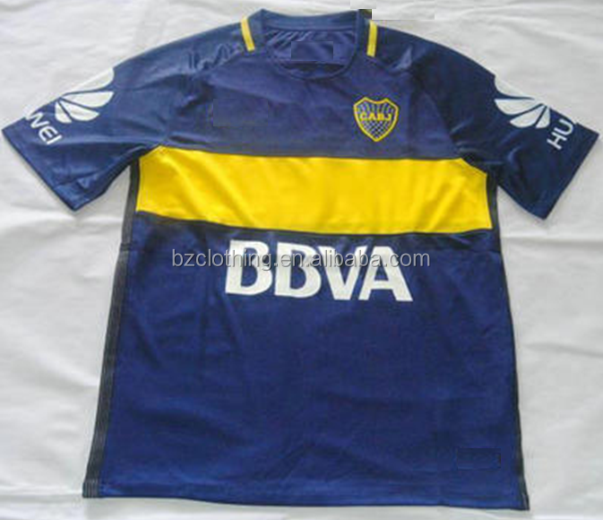 2016-2017 Boca Juniors Best Thailand Quality Home Soccer Jerseys