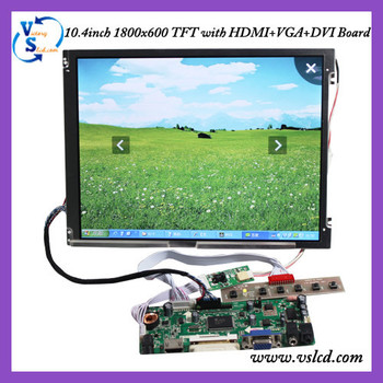 G104SN03 10.4inch 800*600 lcd panel with HDMI+VGA+DVI+Audio board