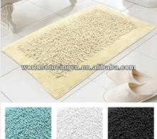 Country Club Noodles 100% Cotton Textured Washable Bath Mat Rug 50cm x 80cm In White Black Natural Beige Or Aqua