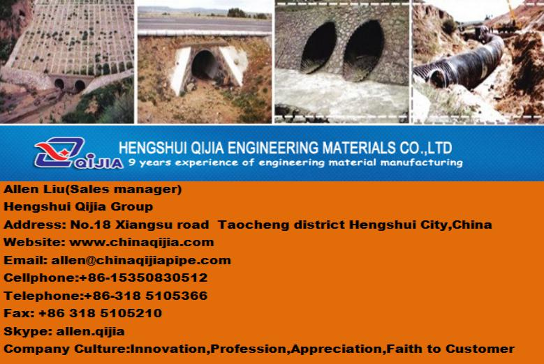 One of top five original factory of corrugated steel pipe manufacture by Qijia which are famous of all world