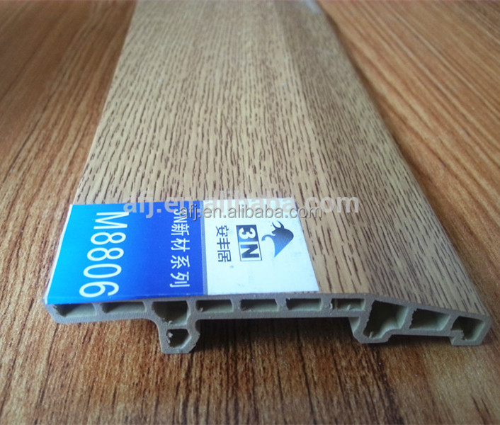 high quality indoor wpc floor wood plastic composite skirting board