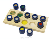 Education material ,Montessori materials toys ,Wooden Texture Cylinders
