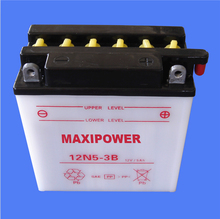 reliable dry charged lead acid motorcycle battery 12N5-3B