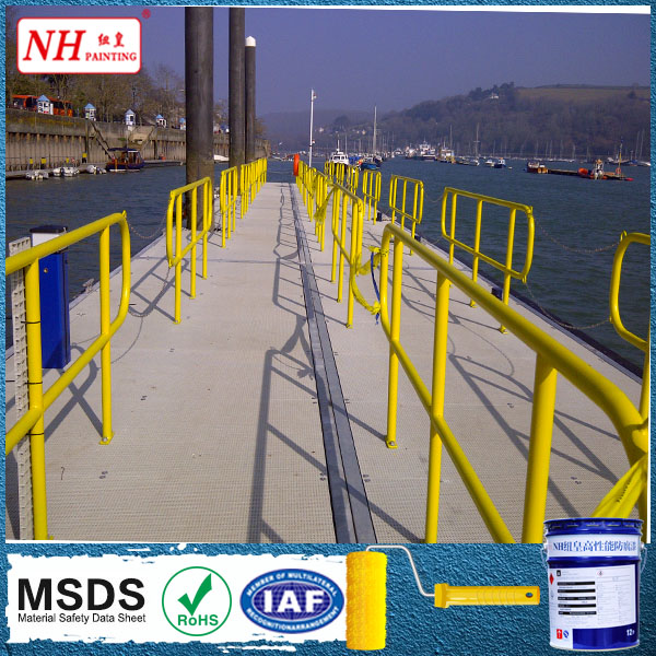 Self-cleaning polyurethane enamel paint for steel structure or architecture.