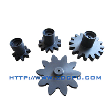Custom machined plastic driving gear for electric motor