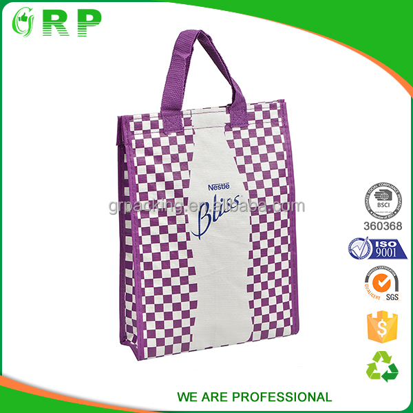 BSCI Ecofriendly keep warm pp woven plastic wine bottle cooler bags