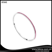 Latest hot sale simple wire diamond bangle for girls