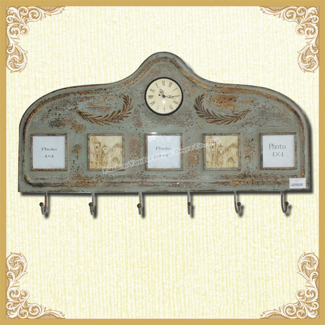 Home clock and photo frame wall hook