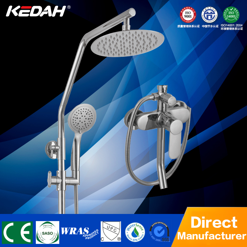 Cheap bathroom gold color bath and shower faucet