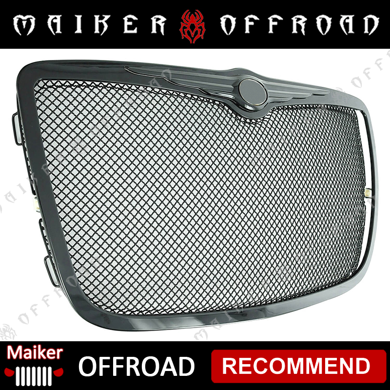 Steel Wire Black Grille For 2005-2010 Chrysler 300C part