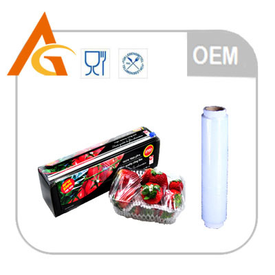 high-end market pe plastic roll film with slide cutter
