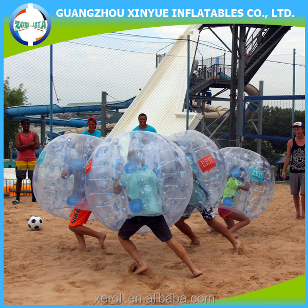 Kid size inflatable human bumper ball for outdoor entertainment