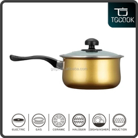 16cm Golden Enamel Cast Iron Non-stick Sauce Pot/Mini Milk Pan