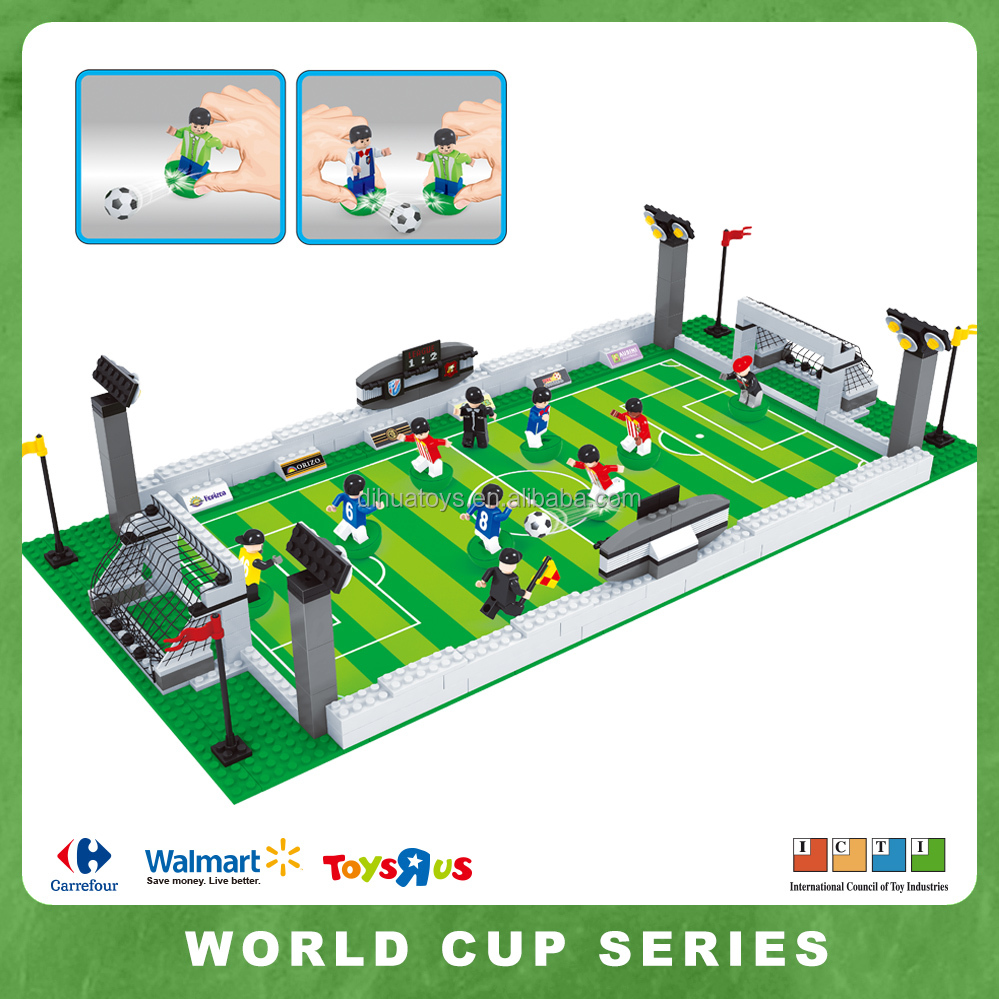 World Cup Sport Soccer Game with Action Figures Building Bricks 381pc Educational Blocks Set Compatible to Lego Parts
